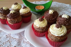 Příprava receptu Muffinky plněné vanilkovým krémem, krok 16