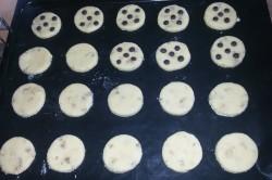 Příprava receptu Jednoduché cookies s čokoládou, krok 4