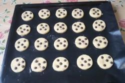 Příprava receptu Jednoduché cookies s čokoládou, krok 5
