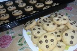 Příprava receptu Jednoduché cookies s čokoládou, krok 8