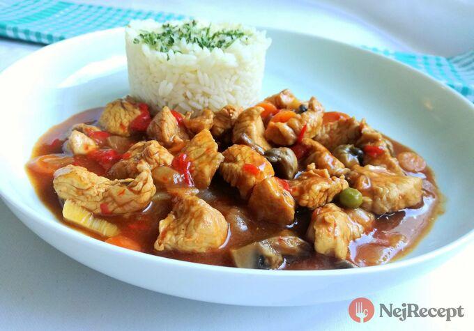 Recept Krůtí guláš s rýži