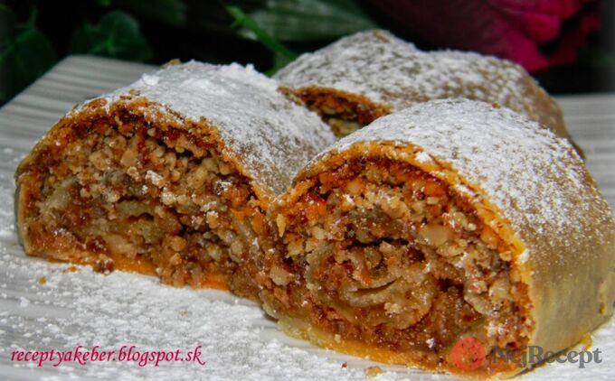 Recept Ořechový štrůdl s domácím džemem