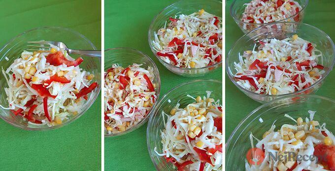 Recept Pestrý zelný salát s kukuřicí