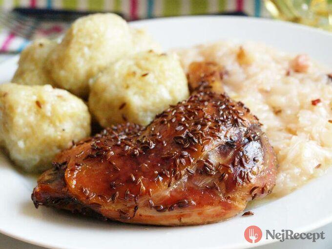 Recept Pečené kachní čtvrtky na kmínu