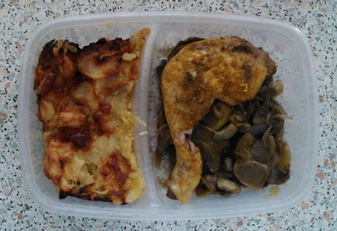 Recept Dietní kuřecí stehno se žampiony