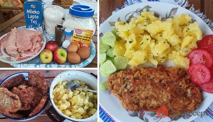 Recept Krůtí prsa v jablečném těstíčku