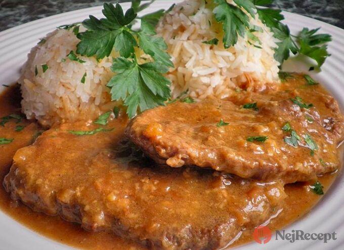 Recept Hovězí plec na hořčici s jasmínovou rýží
