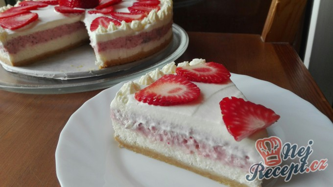 Recept Vynikající jahodový cheesecake