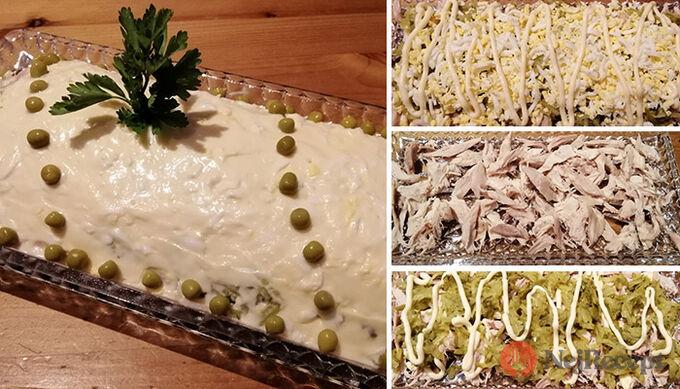Recept Velikonoční vajíčkovo-kuřecí majonézový salát