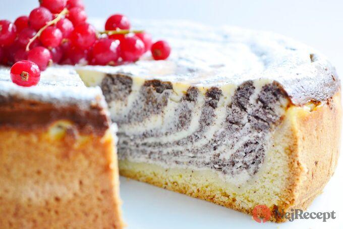 Recept Makovo tvarohový zebra dort
