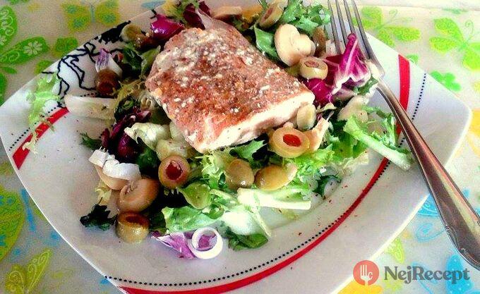 Recept Losos na másle se zeleninovým salátem