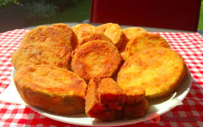 Recept Obalovaná smažená cuketa a houby