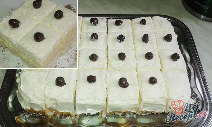Recept Lahodné kokosové kostky s vanilkovým krémem