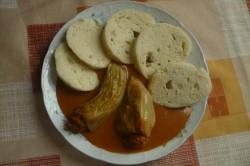 Recept Pečené plněné papriky s rajskou