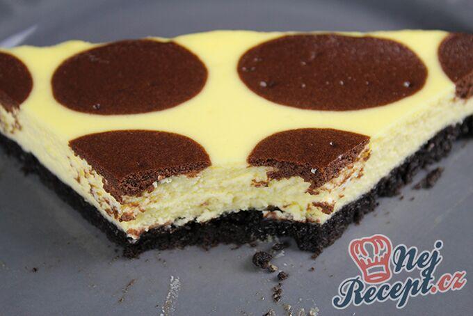 Recept Tečkovaný cheesecake