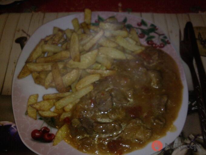 Recept Maso po srbsku s hranolky