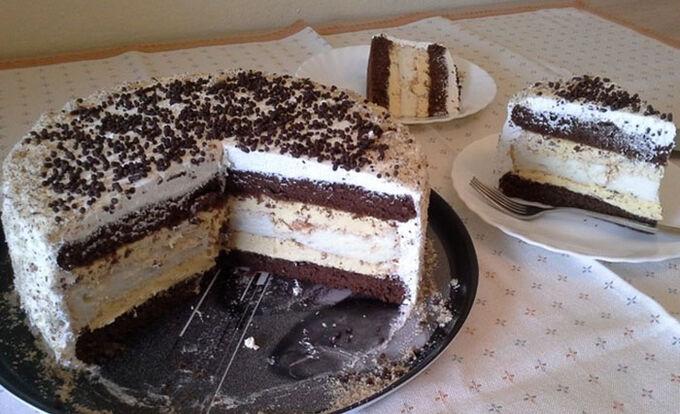 Recept Slavnostní krémový dort s bílou čokoládu