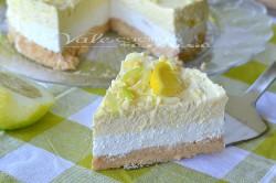 Příprava receptu Osvěžující NEPEČENÝ citrónový cheesecake s bílou čokoládou, krok 1