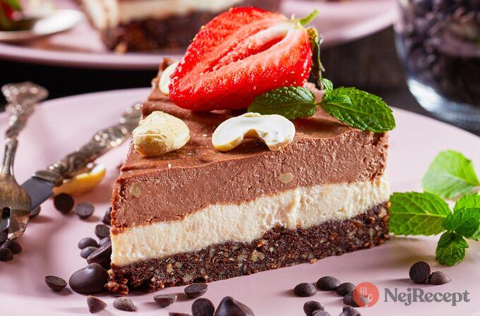Recept Zdravý nízkokalorický triple čoko cheesecake