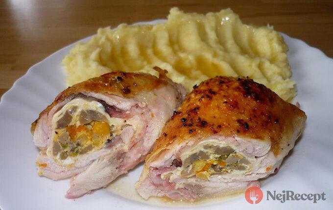 Recept Plněná kuřecí stehna