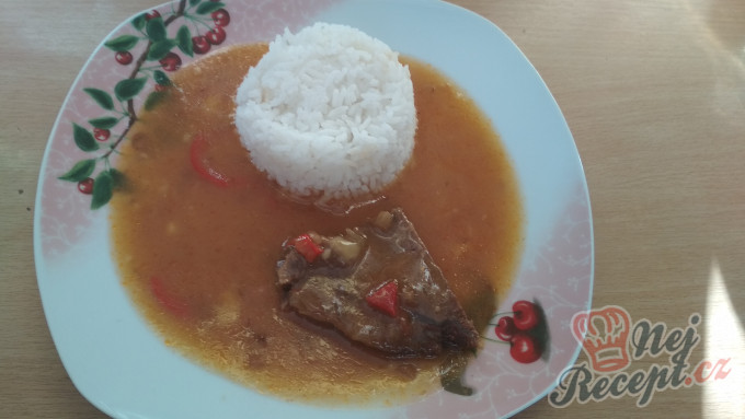 Recept Cikánská pečeně s rýží