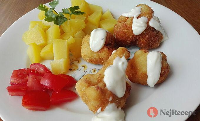 Recept Klasika na talíři - smažený květák s bramborami