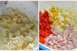 Příprava receptu Sýrová plněná roláda, krok 1