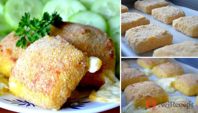 Recept Výborný sýr v trojobale pečený v troubě - chutná jako smažený!