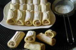 Príprava receptu Mini papučky s orieškovou náplňou, krok 3