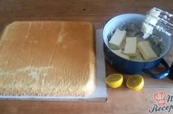 Příprava receptu Jednoduché citrónové řezy s bílou čokoládou, krok 8