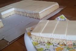 Příprava receptu Jednoduché citrónové řezy s bílou čokoládou, krok 12