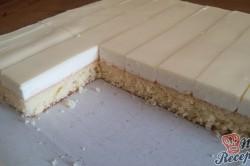Příprava receptu Jednoduché citrónové řezy s bílou čokoládou, krok 13