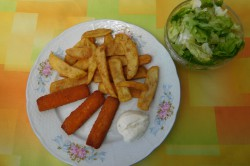 Příprava receptu Smažené rybí prsty a hranolky, krok 6