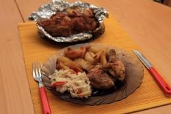 Příprava receptu Pikantní kuře v alobalu, krok 1