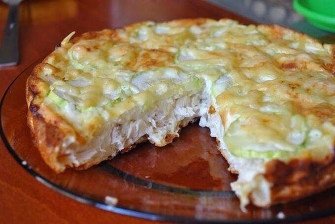 Recept Kuřecí dort s vajíčky a sýrem