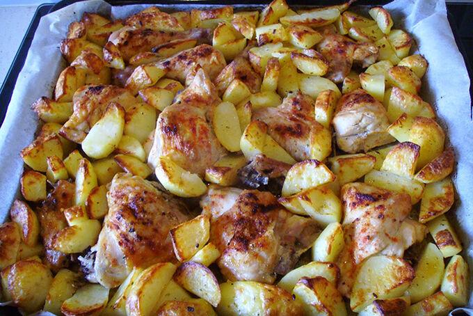 Recept Pečené kuře s bramborem 2v1