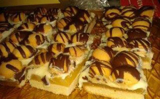 Recept Džusové řezy s piškoty