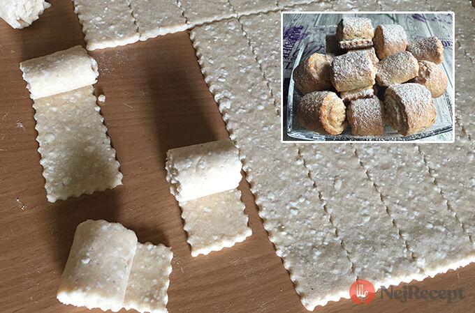 Recept Rychlé a křehké tvarohové mini rolky