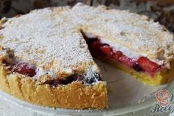 Příprava receptu Linecký koláč s ovocem a sněhem, krok 1