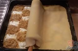 Příprava receptu Mřížkový jablečný koláček s tvarohem FOTOPOSTUP, krok 7