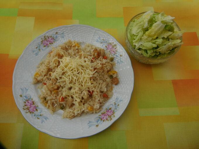 Recept Rizoto s kuřecím masem a zeleninou