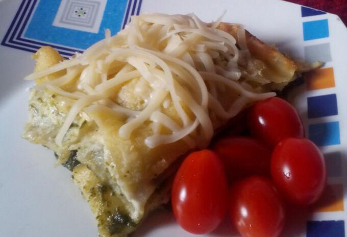 Recept Špenátové lasagne s kuřecím masem