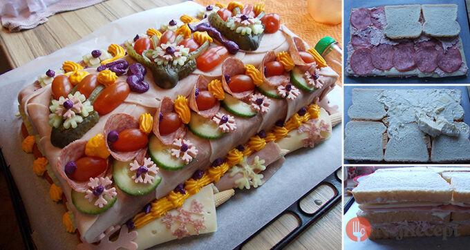 Recept Jak na slaný dort - fotopostup od fanouška