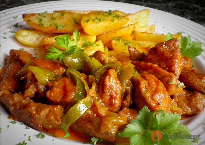 Recept Vepřové maso s pórkem a tatarkové bramůrky