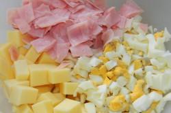 Příprava receptu Zapečený květák se šunkou a sýrem, krok 1