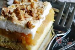 Příprava receptu Jablečné řezy s pěnou a ořechy, krok 7