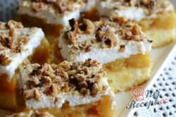Příprava receptu Jablečné řezy s pěnou a ořechy, krok 8