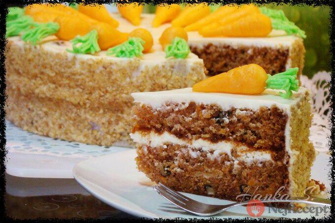 Recept Mrkvový dort s domácím marcipánem