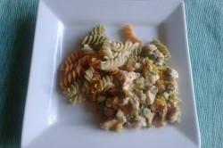 Příprava receptu Kuřecí nudličky na zeleninové smetanové omáčce s těstovinami, krok 1