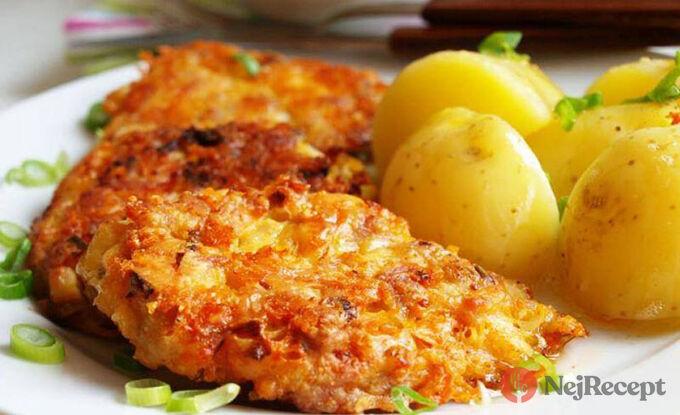 Recept Kuřecí placičky v sýrovém těstíčku